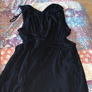Black swim suit cover up size 14